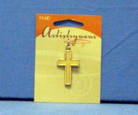Artistry Wear Metal Pendant - Cross 2-Tone