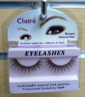 Claire Brown Eyelashes w/ Adhesive Kit