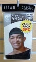 Titans Weave Cap Black 5pc Value Pack