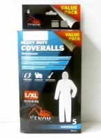 Venom Heavy Duty Coverall 5 Pack L/XL