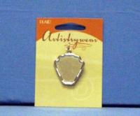 Artistry Wear Metal Pendant - Seashell Silver