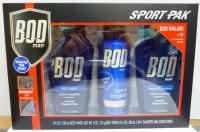 BOD Man Sport Pak 3pc Gift Set w/ Bonus Car Air Freshener