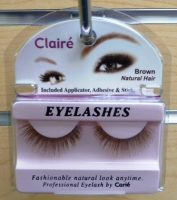 Claire Brown Eyelashes w/ ahesive Kit