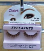 Claire Brown Eyelashes w/ Adhesive Kit