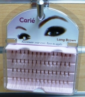 Claire Individual (Flare) Eyelashes Long: Brown