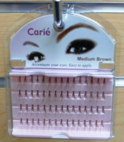 Claire Individual Eyelashes Medium: Brown