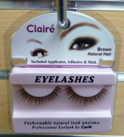 Claire Lashes w/ Adehesive Kit: Brown