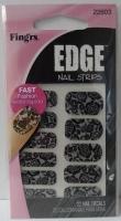 Fing'rs Edge Nail Strips Black Lace #22603-001