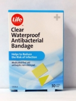 Life Clear Waterproof Antibacterial Bandage 30 ct