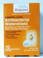 "Walgreens Antibacterial Watershield Bandages 2""x 3"" 10 ct"