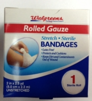 Walgreens Rolled Gauze 2 in x 2.5 yds. #WRX561774
