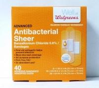 Walgreens Antibacterial Sheer Bandages 40 CT